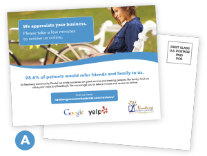 Local reviews postcards localfresh shared their satisfaction and expressed a willingness to review your business click to see larger version of each template and back of postcard cheaphphosting Choice Image