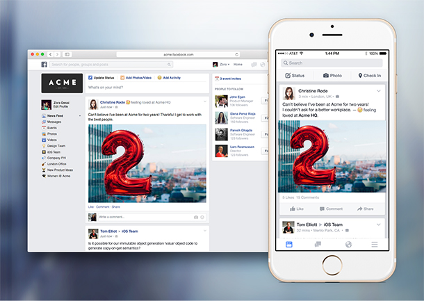 """Facebook At Work: A New Way To """"Like"""" Your Workday"""